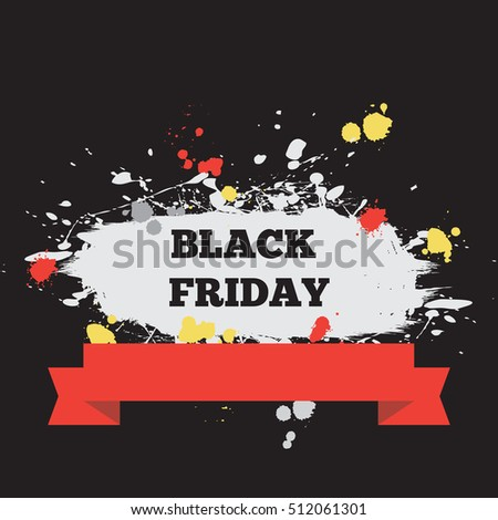 Black Friday. Vector illustration