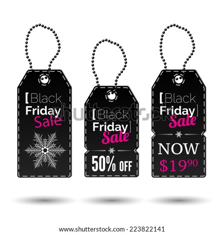 Black Friday vector sales tags or special offers and black friday. Vector illustration - stock vector