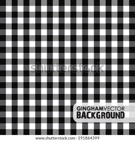 black gingham background - stock vector