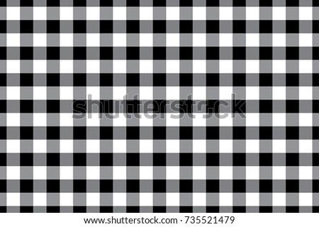 black gingham tablecloth seamless background pattern design