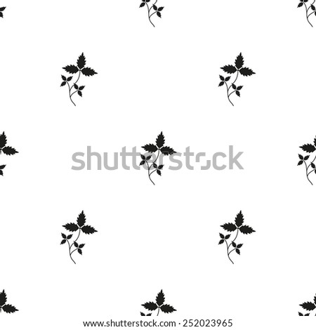 Black grapes pattern. Vector illustration. EPS 10 - stock vector