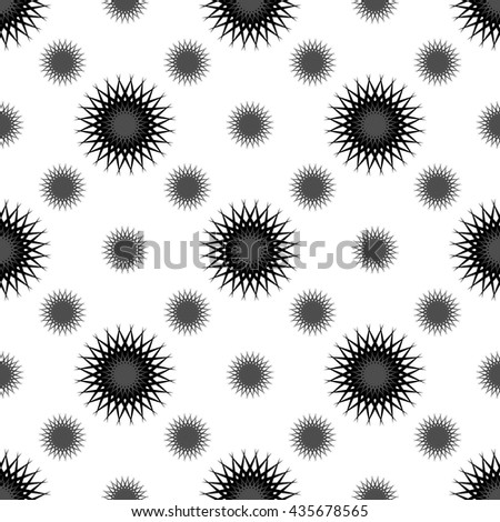 Black grey  abstract seamless pattern on white background. Fashion graphic design. Modern spring and summer stylish abstract texture. Template for prints, textile, wrapping and decoration, wallpaper.  - stock vector