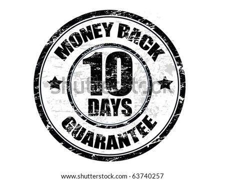 Black grunge rubber stamp with the text money back guarantee written inside the stamp, vector illustration - stock vector