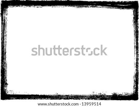 Black grungy frame - stock vector