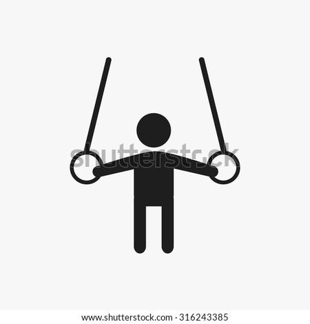 Black gymnastics  icons set. Vector Illustration eps10.  - stock vector