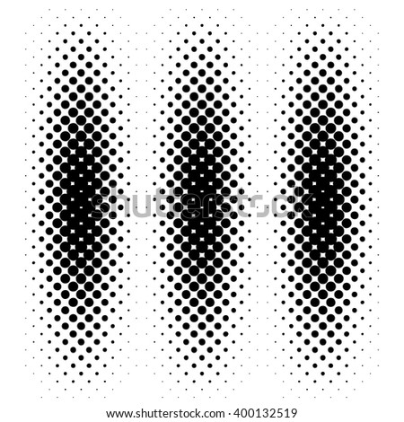 Black halftone pattern. Vector illustration - stock vector