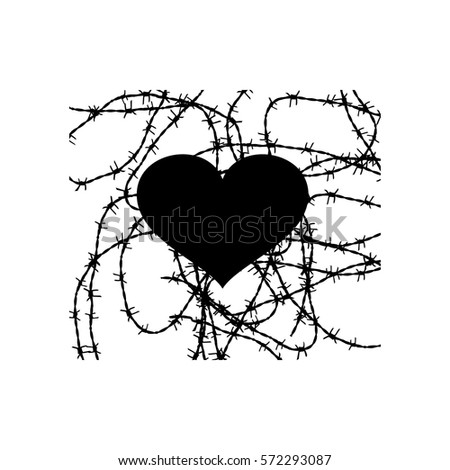 Black Heart Vector Tattoo Prison Barbed Stock Vector HD (Royalty ...
