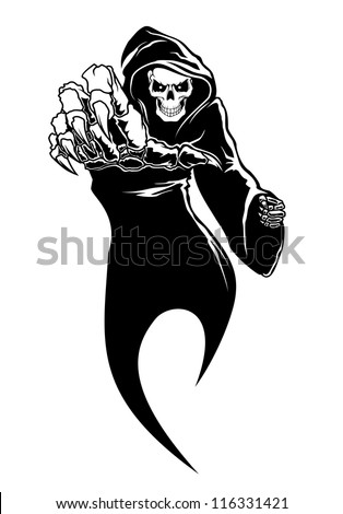 Black horror - danger death with bones for fear concept. Jpeg version also available in gallery - stock vector