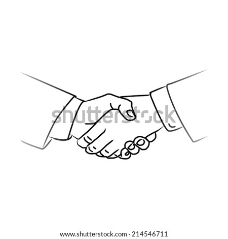 black icon handshake. background for business and finance - stock vector