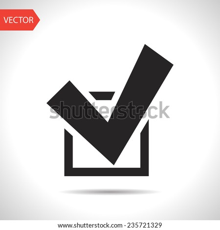 black icon of check - stock vector