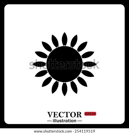Black icon on white background. gas burner gas stove. - stock vector