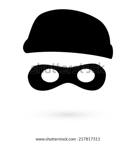 Black Icon thief. Vector - stock vector