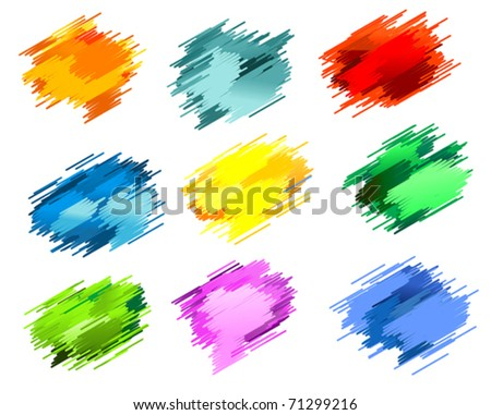Black ink blots isolated on white for design. Jpeg version also available in gallery - stock vector