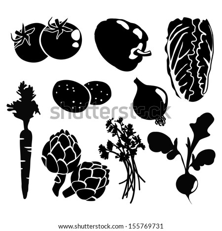Vegetable Garden Black And White