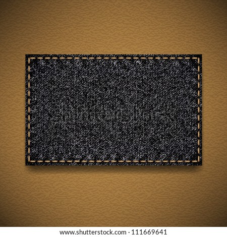 Black jeans label - stock vector