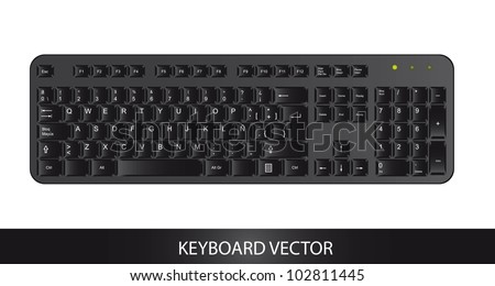 black keyboard isolated over white background. vector - stock vector