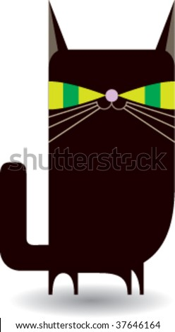 Black Kitty (Cat) - stock vector