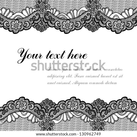 black lace background - stock vector