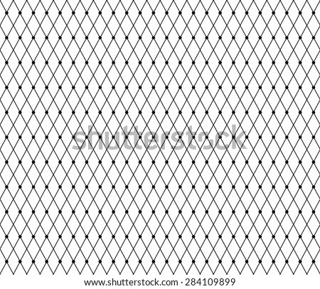 Black lace pattern with dots. Vector - stock vector