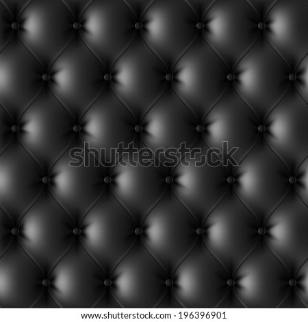 Black leather upholstery pattern. Vector. - stock vector