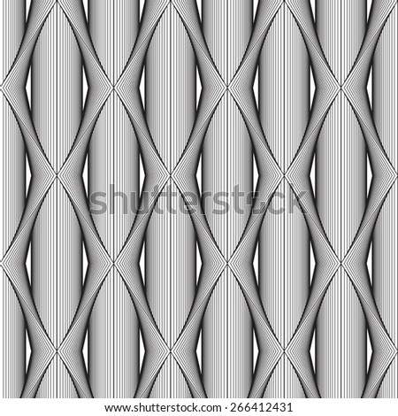 Black line graphic pattern abstract vector background. Modern stylish texture. - stock vector