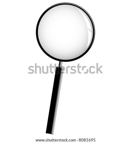 Black Magnifier - stock vector