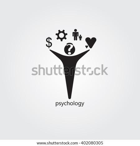 Black man for psychology logo design - stock vector