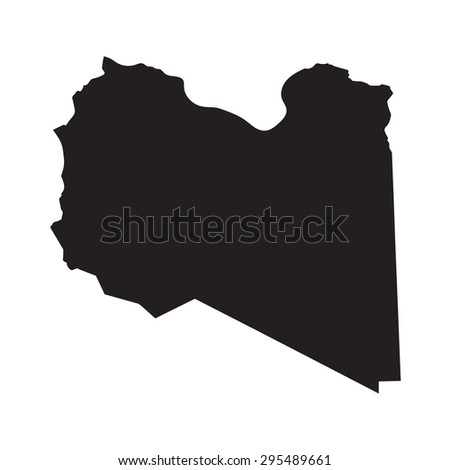 black map of Libya
