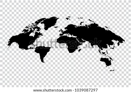 Black map world on transparent background stock vector hd royalty black map of world on transparent background vector illustration eps 10 monochrome template for gumiabroncs Images
