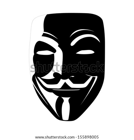 black mask anonymous vector - stock vector