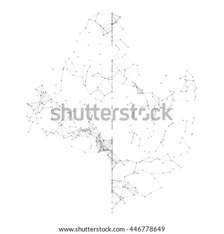 Black Mesh Structure Vector Background | EPS10 Design - stock vector