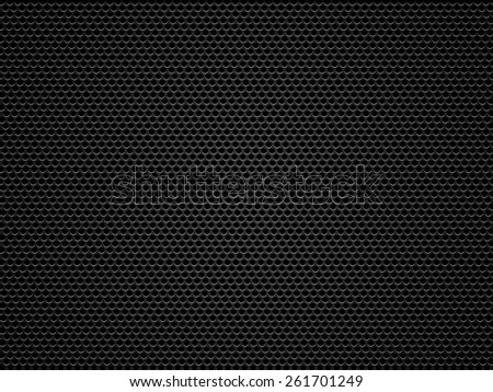 Black metal, carbon grid background or texture