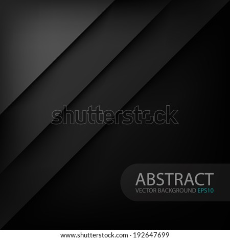 Black modern vector background overlap multi paper lighting square for text and message website design - stock vector