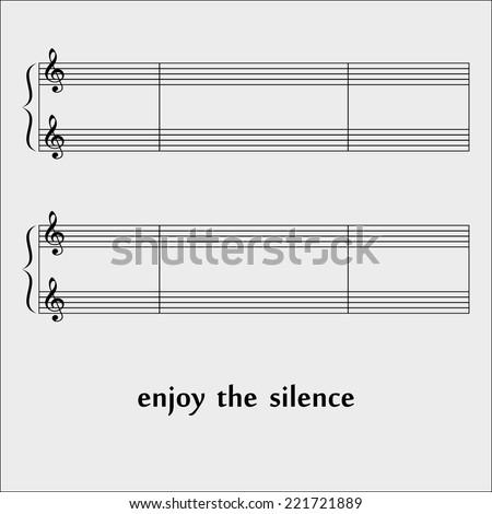 Black music notes on white background. eps10 - stock vector