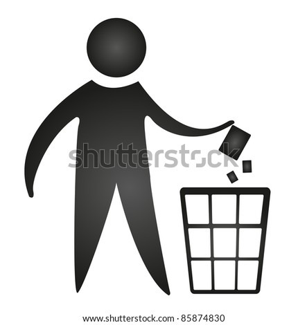 black no littering sign isolated over white background. vector - stock vector