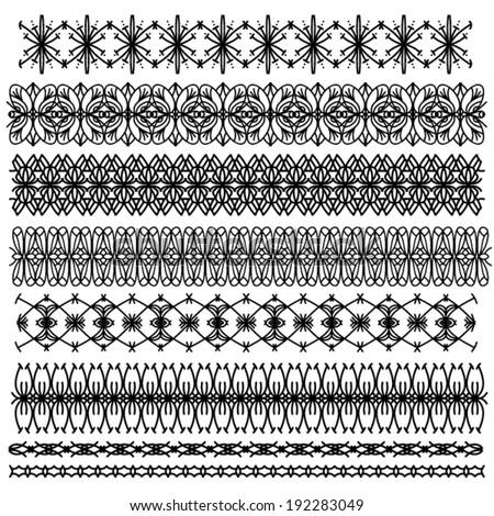 Black Ornamental Vector Trim
