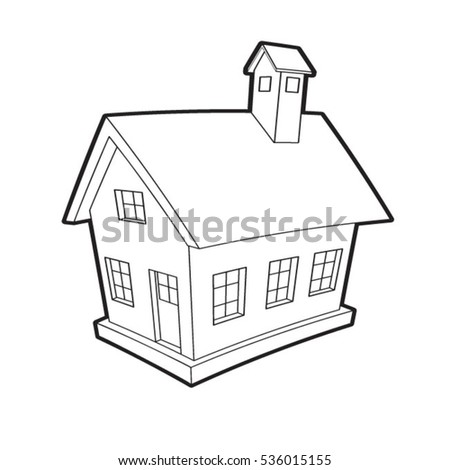 Classic House Sketch Stock Illustration 102329389