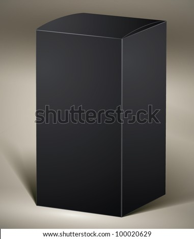 Black pack for design or product visualizing, vertical, vector. - stock vector