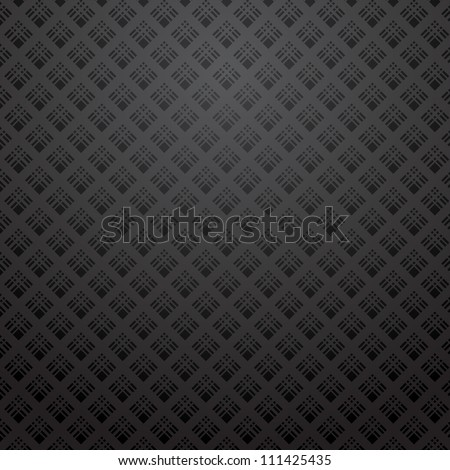 black pattern background - stock vector
