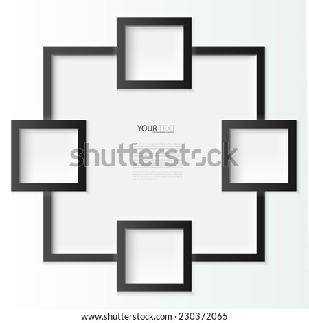 Black photo frames, vector Illustration