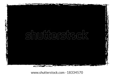 black photo grunge frame in vector