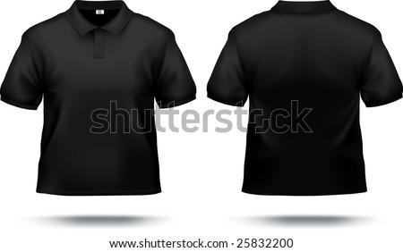 Black Polo Shirt Design Template Front Stock Vector 25832200 ...