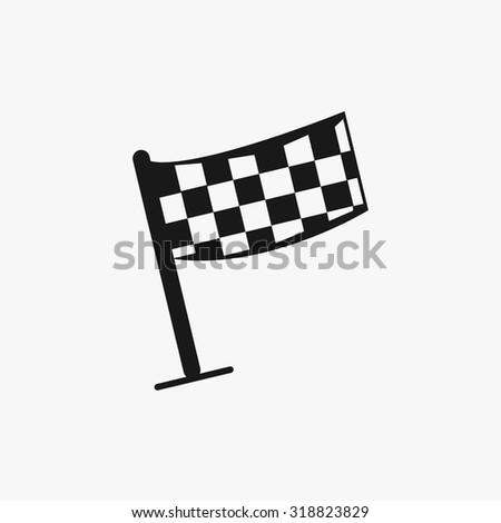 Black Rally flag icons set. Vector Illustration eps10 - stock vector