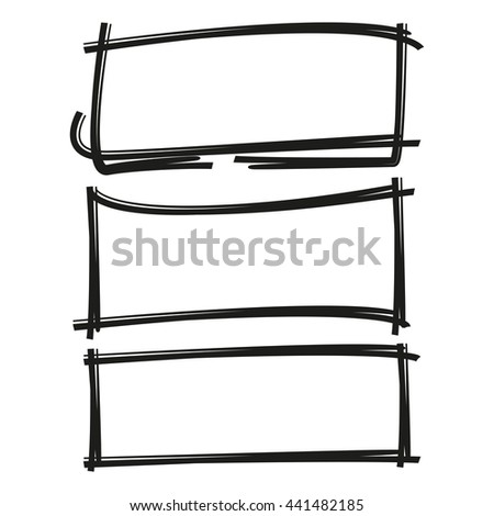 black rectangle frame set