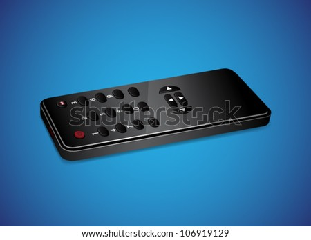 Black remote controller. EPS10 vector - stock vector