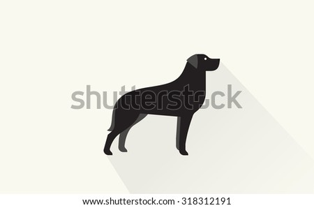 black retriever icon - stock vector