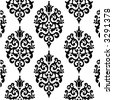 BLACK ROYAL PATTERN VOL. DAMASK 01 - stock vector