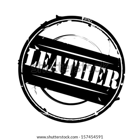 """Black rubber stamp """"Leather"""" vector - stock vector"""