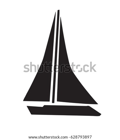 black sailboat silhouette vector stock vector hd (royalty free