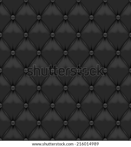 Black Seamless Leather Background - stock vector